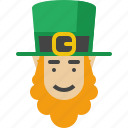 beard, irish, leprechaun, patrick, saint, st patricks day, stpatricksday icon