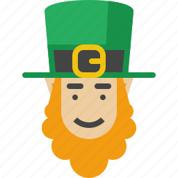 beard, irish, leprechaun, patrick, st patricks day, stpatricksday icon
