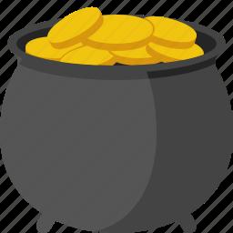 gold, patrick, pot, pot of gold, st patricks day, stpatricksday icon
