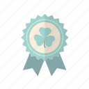 clover, green, patricks, rosette, st icon