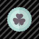 clover, green, leaf, patricks, rosette, st icon