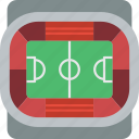 field, football, pitch, soccer, stadium icon