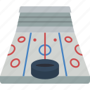 hockey, ice, puck, rink, sport, stadium icon