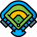 ball, baseball, field, sport, stadium icon