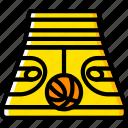 ball, basketball, court, sport, stadium icon