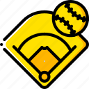 baseball, field, pitch, sport, stadium icon