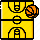 ball, basketball, court, sport, stadium icon