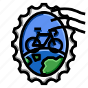 bicycle, grunge, oval, stamp, world icon