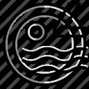 circle, design, stamp, triangle icon