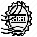 stamp, grunge, texture, oval icon