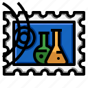 grunge, rectangle, science, stamp icon