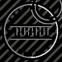 stamp, dot, circle, design icon