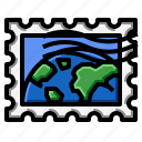grunge, rectangle, stamp, world icon