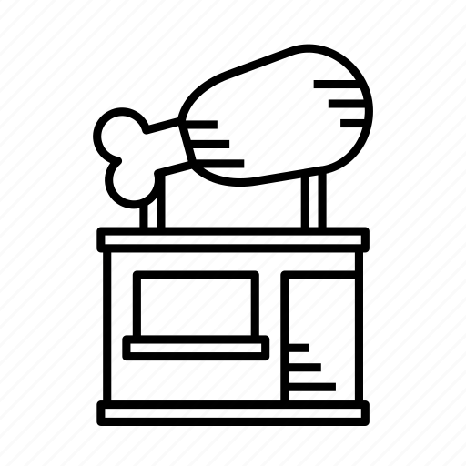 food, grocery stand, kiosk, merchant, small shop, stall, stand icon