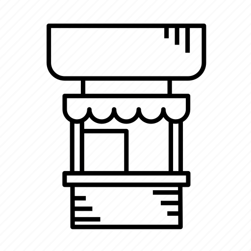 cafe, grocery stand, kiosk, merchant, stall, stand, store icon