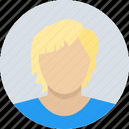 blond, boy, child, kid, male icon