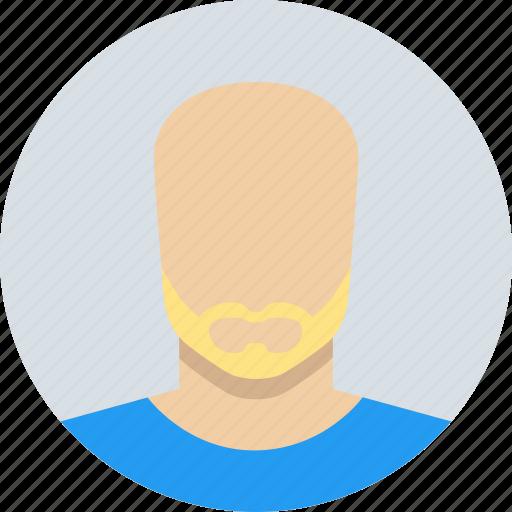 beard, blond, bold, male, man, mature icon