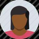 brown, child, female, girl, kid, woman icon