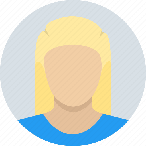 blonde, child, female, girl, kid, woman icon