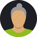 avatar, old people, old woman icon