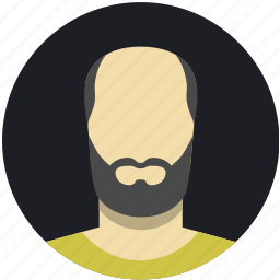 beard, bold, dark, male, man, mature icon