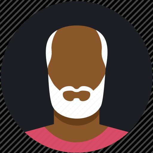beard, bold, male, man, mature, white icon