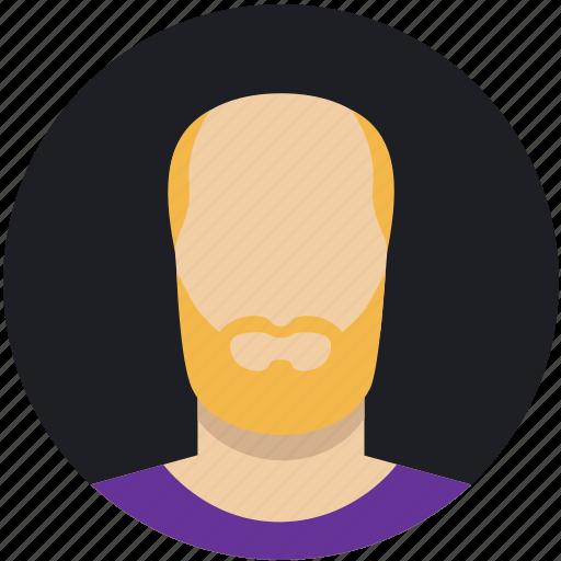 beard, bold, ginger, male, man, mature icon