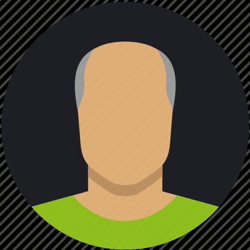 bold, grey, male, man, mature icon