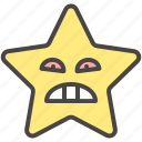 angry, emoji, emotion, face, pouting, star icon