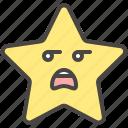 boring, emoji, emotion, face, mouth, open, star