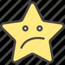 boring, confused, emoji, emotion, star, unamused