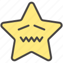 confounded, confused, disappointed, emoji, emotion, star