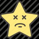 confounded, dazed, dizzy, emoji, emotion, star icon