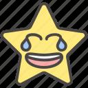 emoji, emotion, funny, laugh, smiley, star