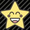 emoji, emotion, funny, laugh, smile, star icon