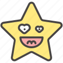 emoji, emotion, happy, heart, laugh, smiling, star