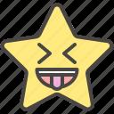 crazy, emoji, emotion, funny, star, tongue icon