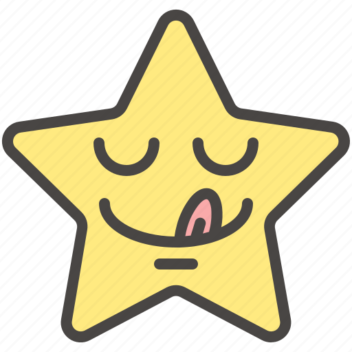 Dilicious Emoji Emotion Star Tongue Yummy Icon