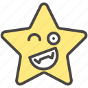 emoji, emotion, playful, smiling, star, winking