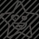 emoji, emotion, happy, heart, laugh, smiling, star icon