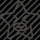 emoji, emotion, face, funny, happy, smile, star icon