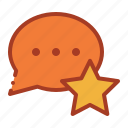 balloon, bubble, comment, star icon