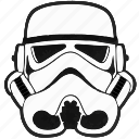 helmet, droid, star, wars, soldier, starwars, storm trooper