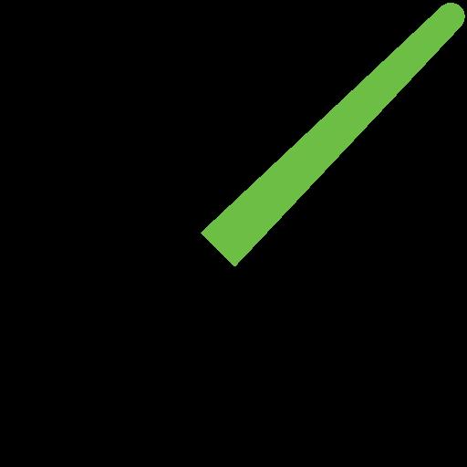 green, jedi, light saber, sword icon