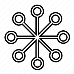 abstract, shape, star icon