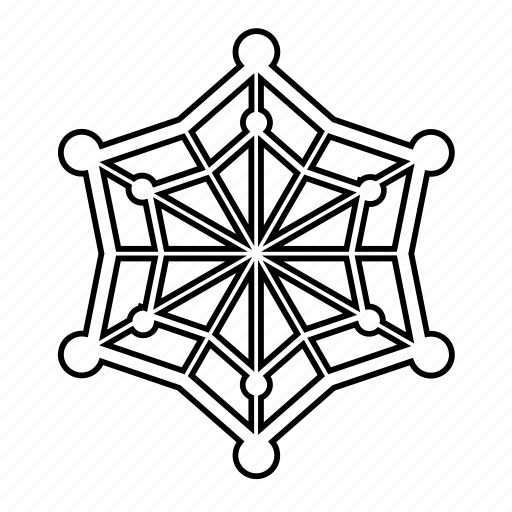 abstract, shape, spider, spiderweb, star, web icon