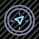 compass, direction, navigation, orientation, pointer, startup icon