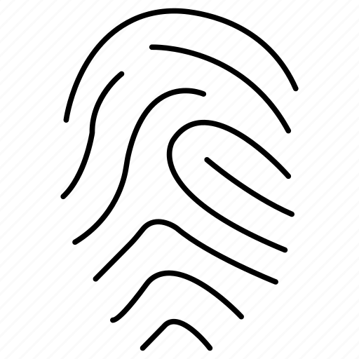 fingerprint, identity, scanner icon