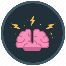 barinstorming, brain, ideas, storm icon