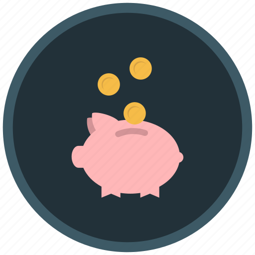 coins, donation, funds, money, pig, saving icon